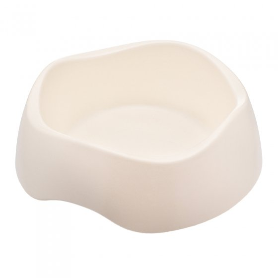 Beco Pets sustainable bamboo pet food bowl on a white background.