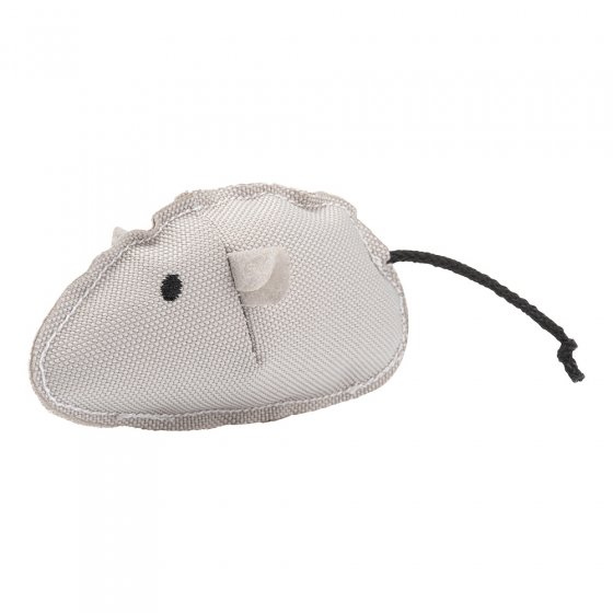 Beco Pets recycled plastic Catnip mouse toy on a white background.