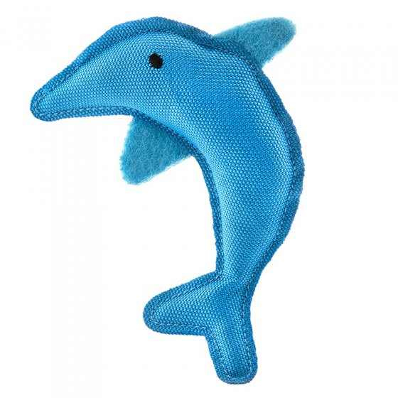Beco Pets sustainable natural catnip dolphin pet toy on a white background