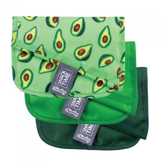 Chico Bag Snack Time 3 Pack - Avocado