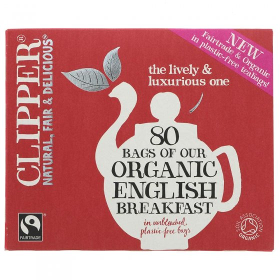 Clipper English Breakfast Organic Tea - 80 Bags
