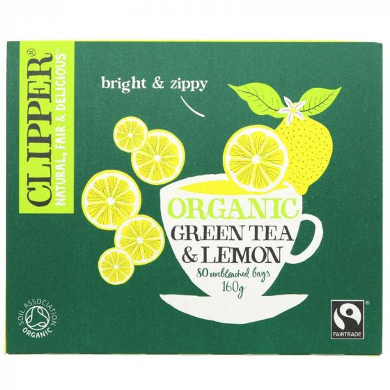 Clipper Organic Green & Lemon Tea - 80 Bags