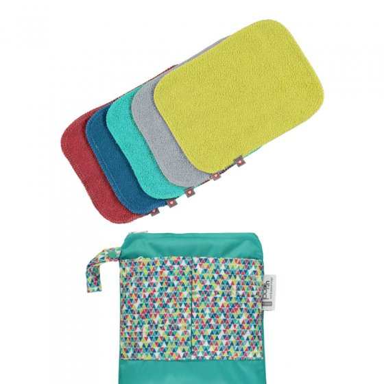 Close Pop-in Reusable Bamboo Wipes 2020 - Brights