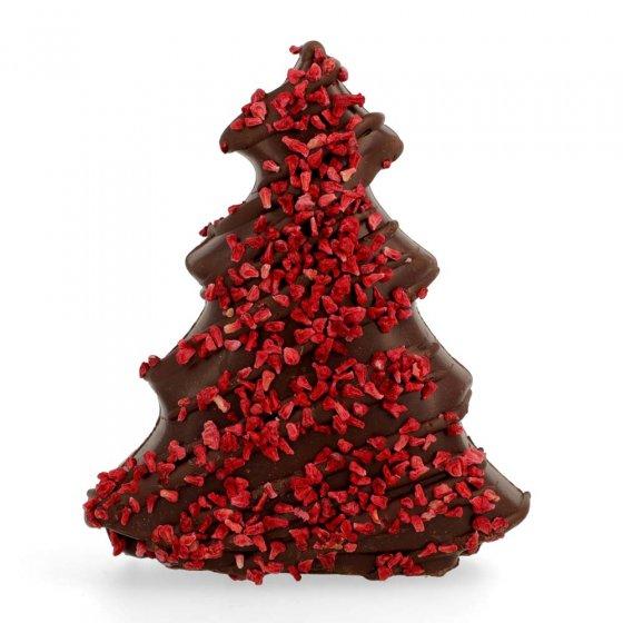 Cocoa Loco Dark Chocolate & Raspberry Christmas Tree 150g
