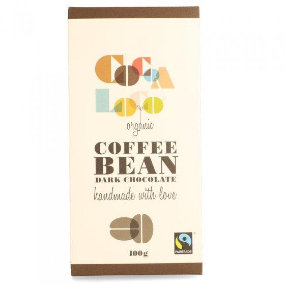 Cocoa Loco Dark Chocolate Coffee Bean Bar 100g