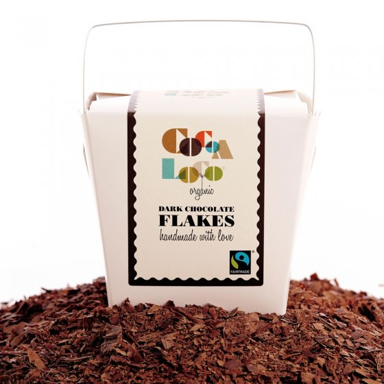 Cocoa Loco Dark Chocolate Drinking Flakes 200g
