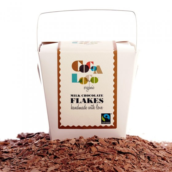 Cocoa Loco Milk Chocolate Drinking Flakes 200g