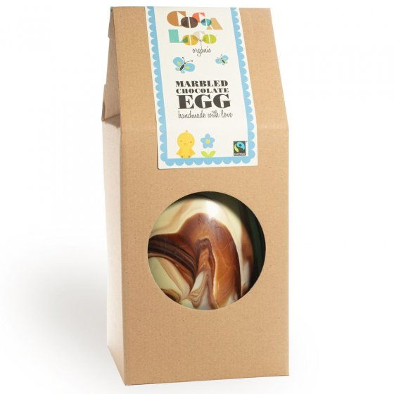 Cocoa Loco Giant Marbled Chocolate Easter Egg 1250g