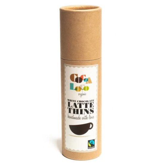 Cocoa Loco White Chocolate & Coffee Thins 170g