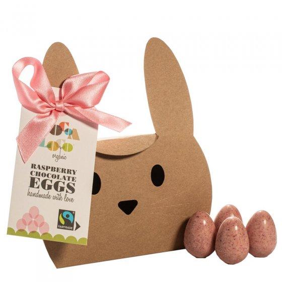 Cocoa Loco White Chocolate & Raspberry Mini Eggs 140g
