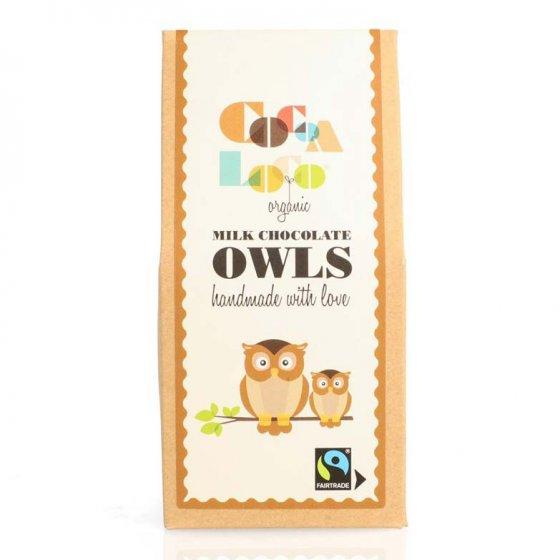 Cocoa Loco Milk Chocolate Owls 100g