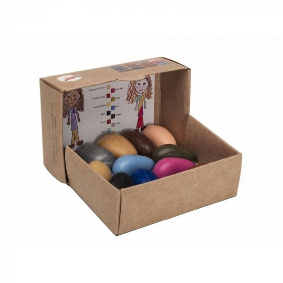 Crayon Rocks People Pebbles in a Kraft Box