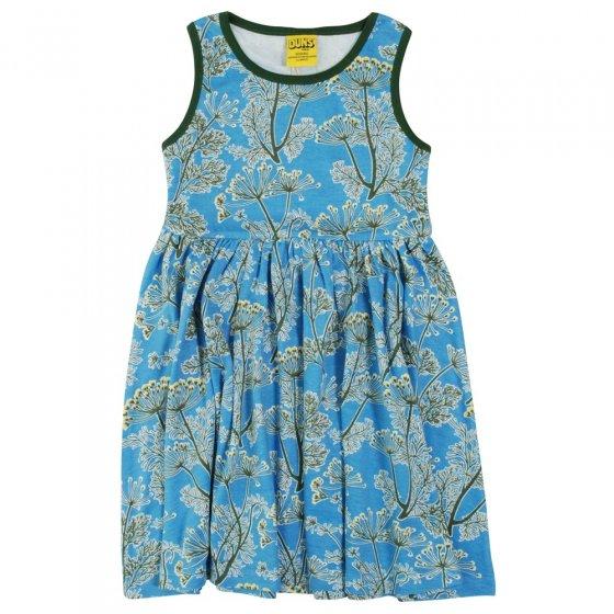 DUNS Blue Dill Sleeveless Gathered Dress