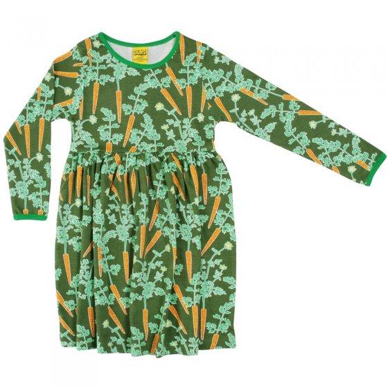 DUNS Adult Carrots LS Gathered Dress