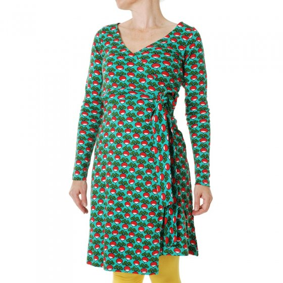 Duns Adult Radish Billiard LS Wrap Dress