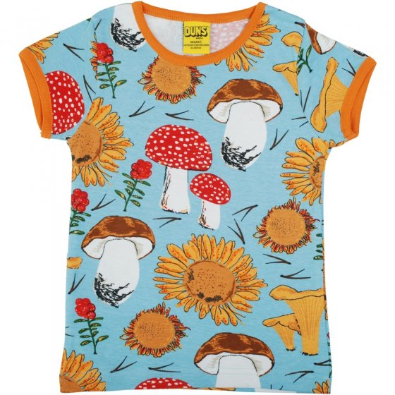 DUNS Sunflowers and Mushrooms Sky Blue SS Top