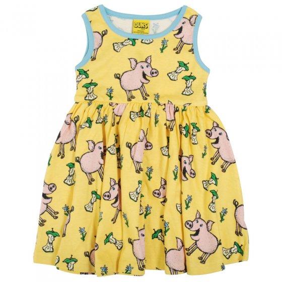 Duns Aspen Gold Pig Sleeveless Gather Skirt Dress