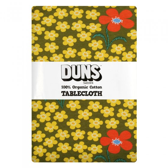 Duns Flower Olive Table Cloth
