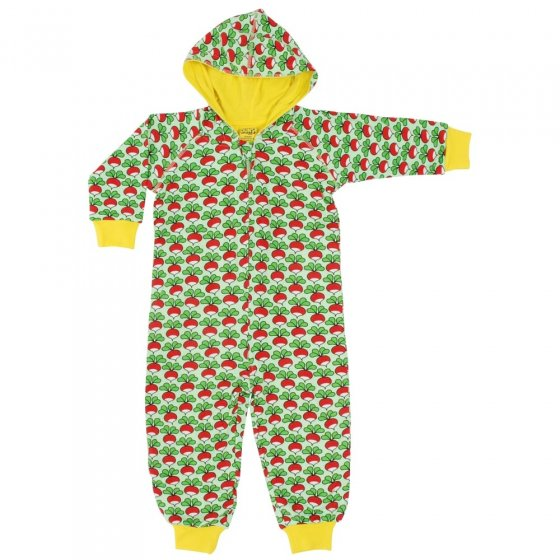 DUNS Green Radish Hooded Suit