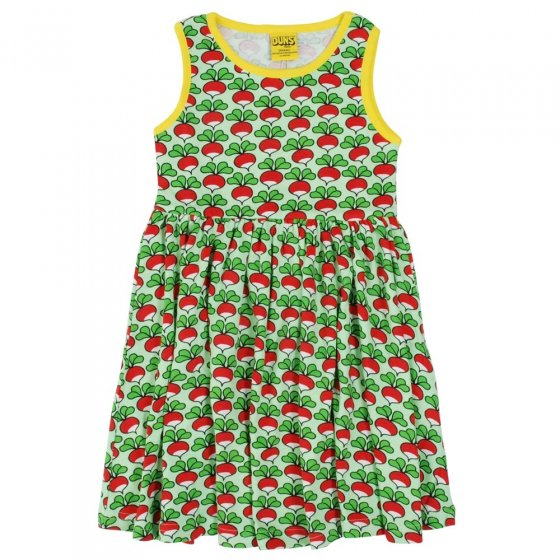 DUNS Adult Green Radish Sleeveless Gathered Dress