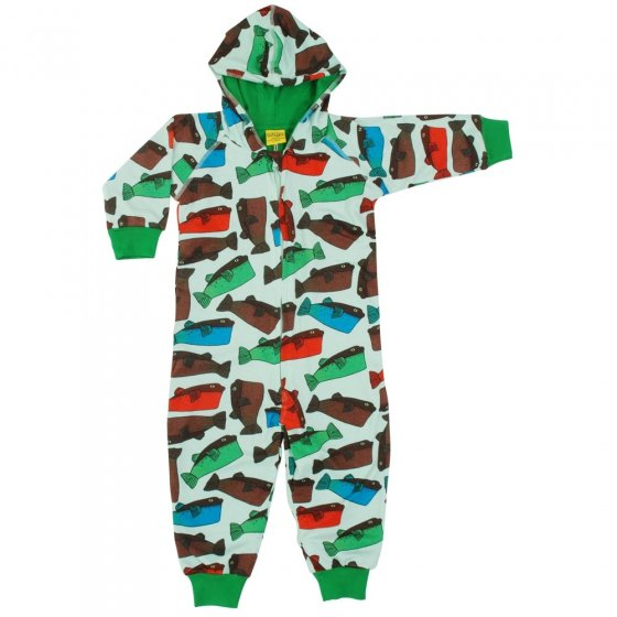 DUNS Minty Blue Fugo Lined Hooded Suit