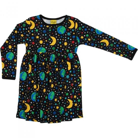 Duns Mother Earth Black LS Gather Dress