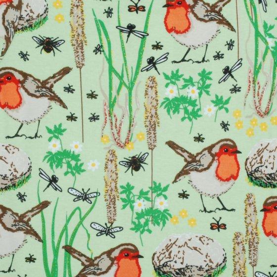 Duns Nile Green Robin Baby Bonnet