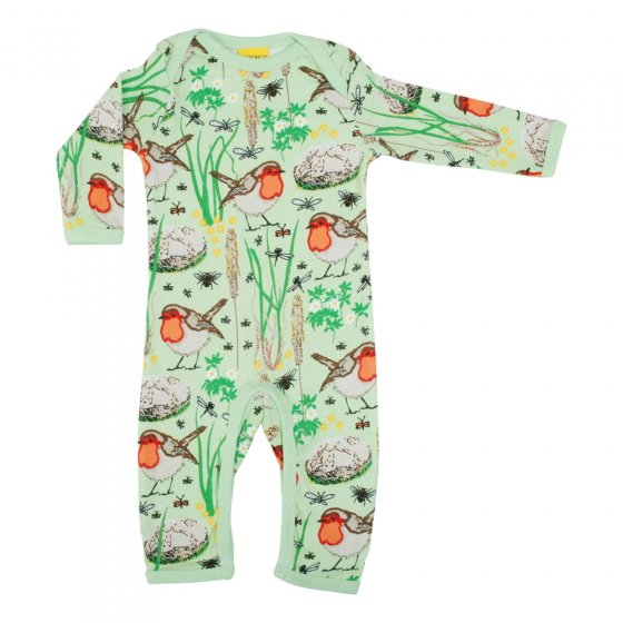 Duns Nile Green Robin LS Lap Neck Suit
