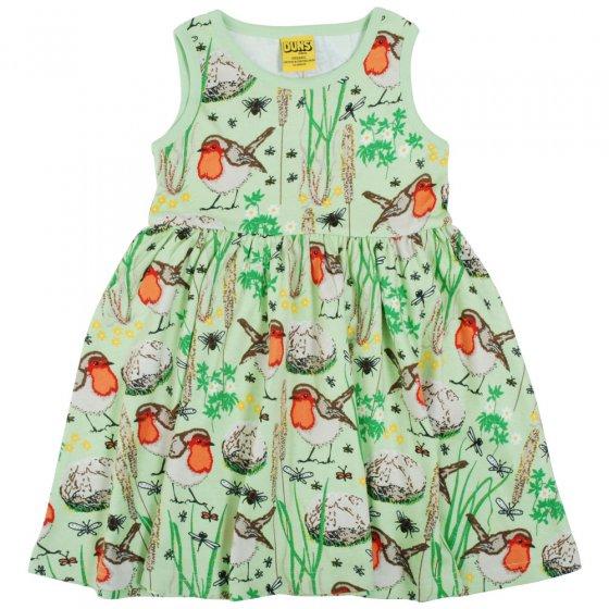 Duns Nile Green Robin Sleeveless Gather Skirt Dress