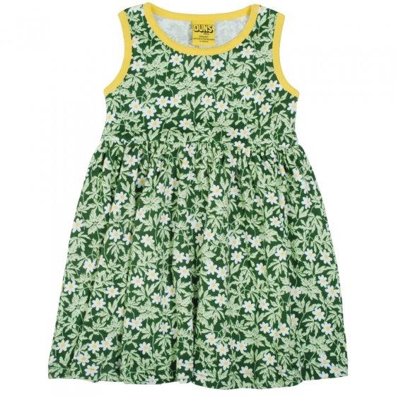 Duns Green Wood Anemone Sleeveless Gather Skirt Dress