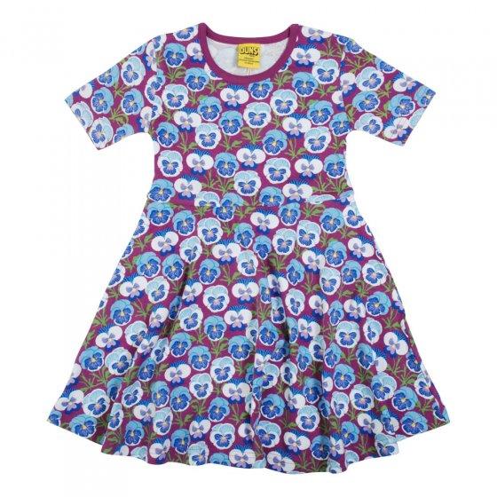Duns Hyacinth Violet Pansy SS Skater Dress