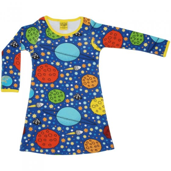 DUNS Adult Navy Lost In Space LS Basic Dress