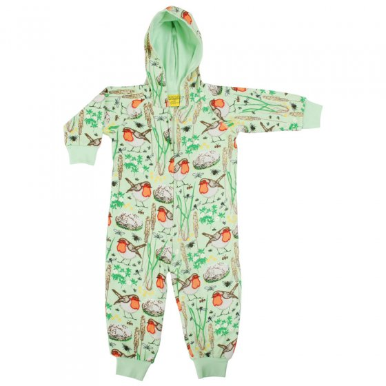 Duns Nile Green Robin Lined Hooded Suit