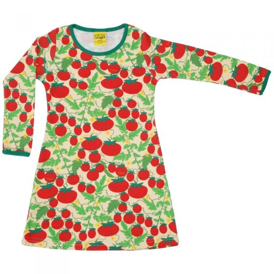 DUNS Adult Pale Yellow Growing Tomatoes LS Basic Dress