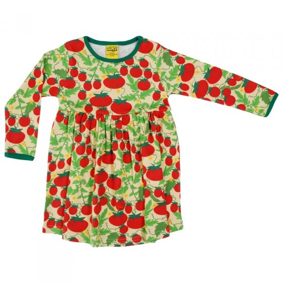 DUNS Adult Pale Yellow Growing Tomatoes LS Gathered Dress