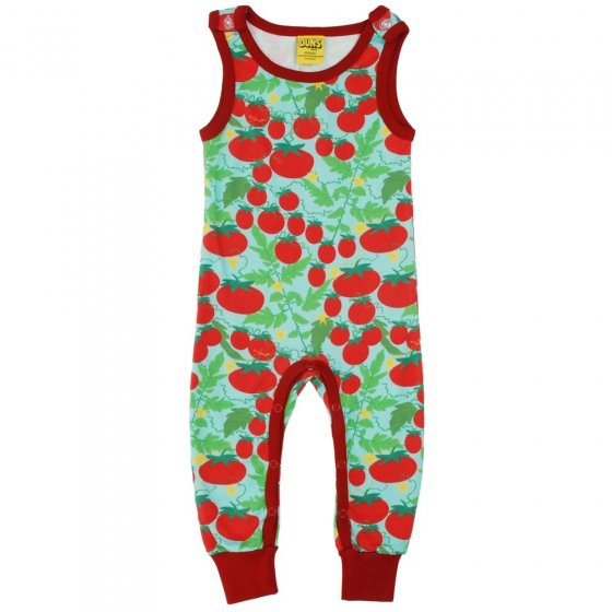 DUNS Turquoise Growing Tomatoes Dungarees