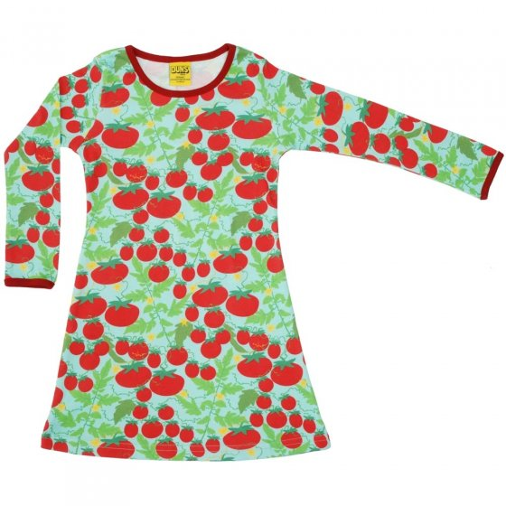 DUNS Adult Turquoise Growing Tomatoes LS Basic Dress