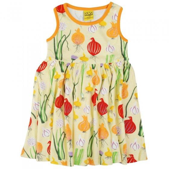 DUNS Pale Green Garlic, Chives & Onion Sleeveless Gathered Dress