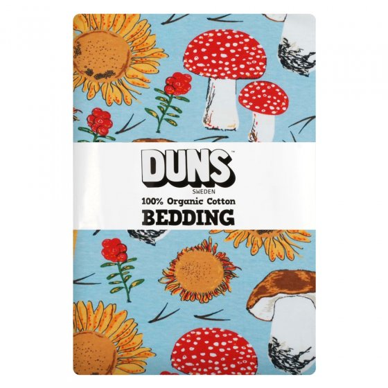 Duns Sunflowers and Mushrooms Sky Blue Adult Bedding