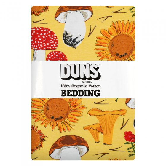 Duns Sunflowers and Mushrooms Sunshine Yellow Adult Bedding