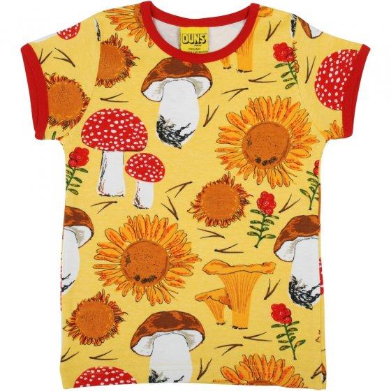 DUNS Sunflowers and Mushrooms Sunshine Yellow SS Top