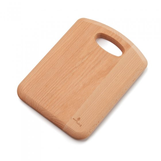 Ecoliving 28cm sustainable Beech Wood Chopping Board on a white background