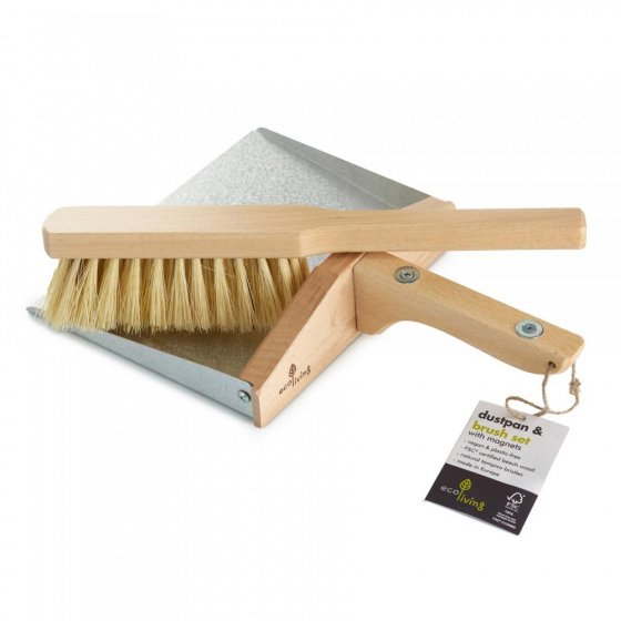 Ecoliving Dust Pan and Brush With Magnets