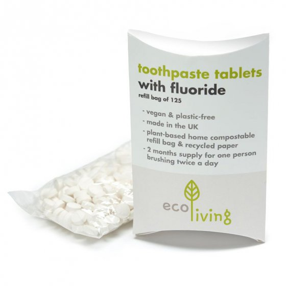 Ecoliving Toothpaste Tablet Refill - With Fluoride