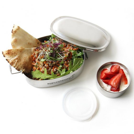 ECOlunchbox Oval 24oz and No-Leak Cup 6oz