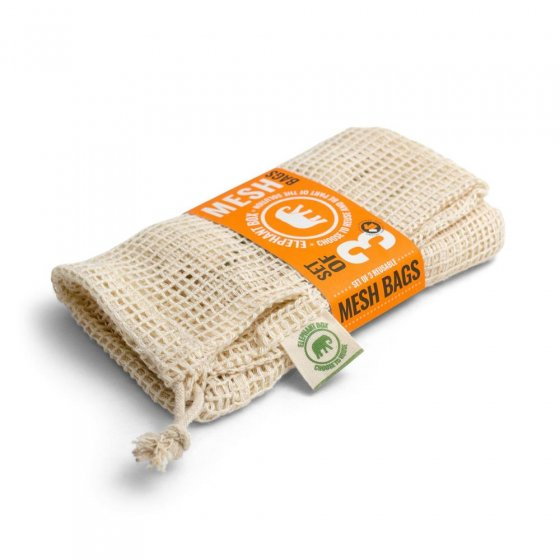 Elephant Box Cotton Mesh Produce Bags - 3 pack