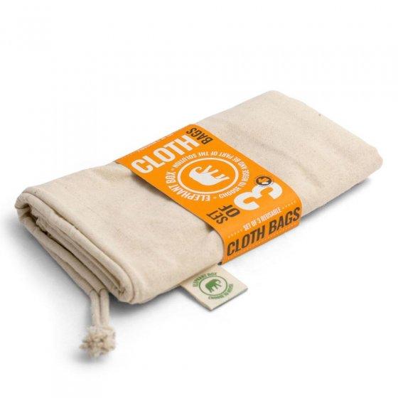 Elephant Box Cotton Produce Bags - 3 pack