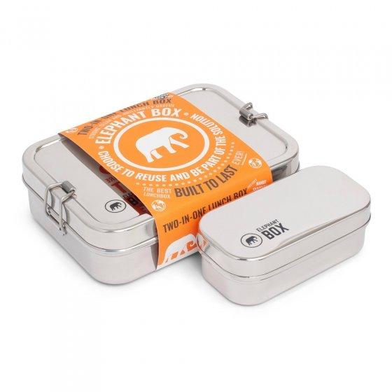 Elephant Box Single Tier Two In One Lunchbox 800ml / 200ml