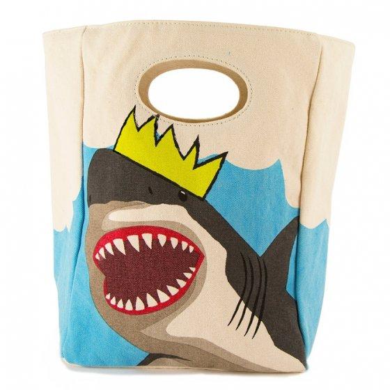 Fluf Classic Organic Lunch Bag - King Shark