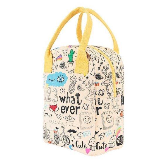 Fluf Zipper Lunch Bag - Whatever